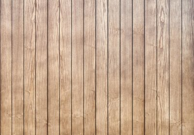 Tapeta Stylish contemporary wainscoting made of thin light toned ash timber planks as textured background for design close view