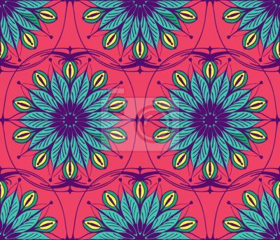 Tapeta Stylizowane kwiaty ozdobne