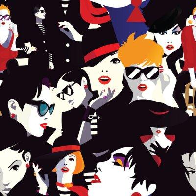 Tapeta Stylowe kobiety w stylu pop-artu.