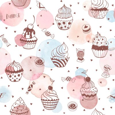 Tapeta sweets seamless pattern