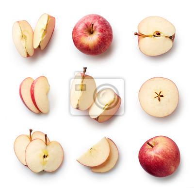 Świeże jabłko samodzielnie na białym tle