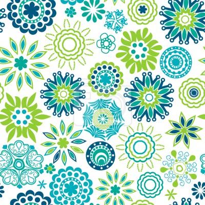Tapeta Świeże Retro Kwiat Wiosna