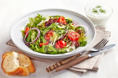 Tapeta Świeże sałatki