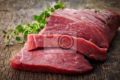 Tapeta świeże surowe mięso
