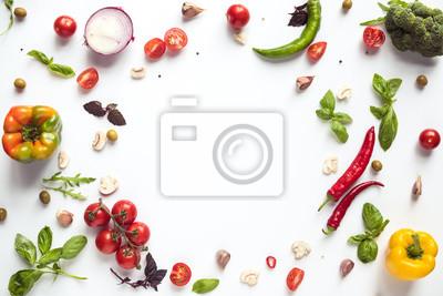 Tapeta Świeże warzywa i zioła