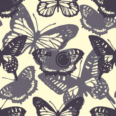 Tapeta Sylwetki Motylów