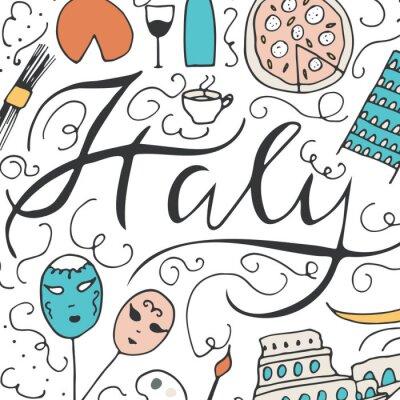 Tapeta Symbole Włoch.