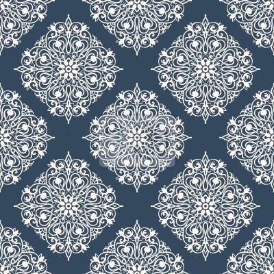 Tapeta Symetryczne Kwiaty