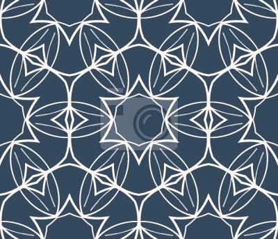 Tapeta Symetryczne ozdoby Kwiatowe