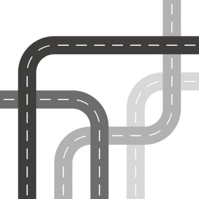 Tapeta Szary dróg lub ulic drzewa wzór splotu