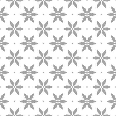 Tapeta Szary wzór na białym tle