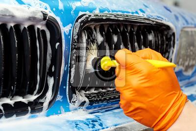 Tapeta Szczegółowe czyszczenia pojazdu na pranie