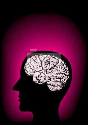 Tapeta Szef symboliczne mózgu - magenta
