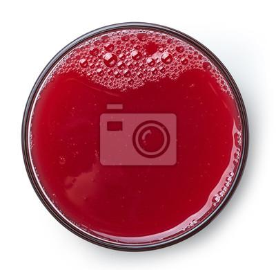 Szklanka soku truskawkowego