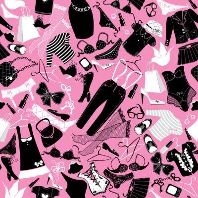 Tapeta Szwu do projektowania mody - Sylwetki glamour skrzepu