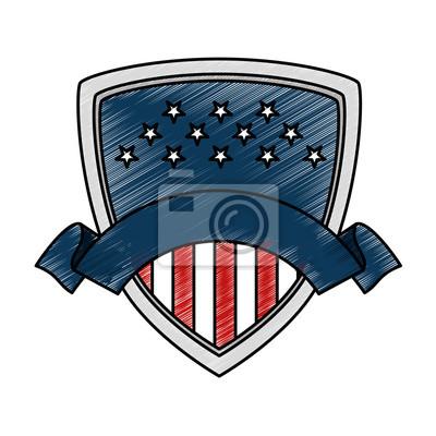 Tapeta Tarcza Stanów Zjednoczonych Ameryki