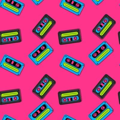 Tapeta Taśmy kasetonowe pływające szwu. Autentyczny design dla mediów cyfrowych i drukowanych.