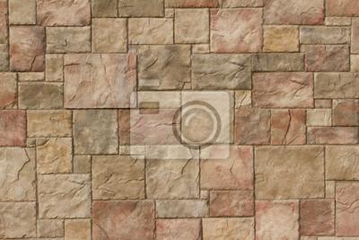 Tapeta Teksturowane marmurowe kamienne ściany streszczenie tło w odcieniach jasnobrązowym, brązowym i czerwonym