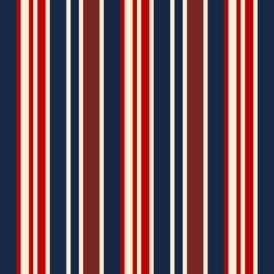 Tapeta tkaniny Retro usa Kolor stylu bezszwowych pasy wzór. Wektor abstrakcyjna tła.