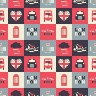 Tapeta Tła bez szwu Londyn