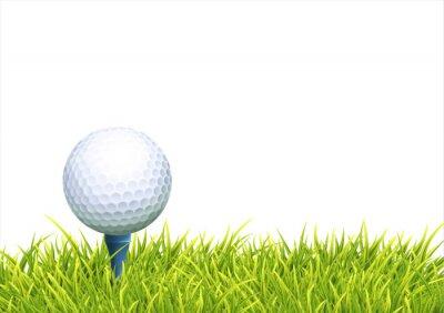 Tapeta Tła Z Golf Ball
