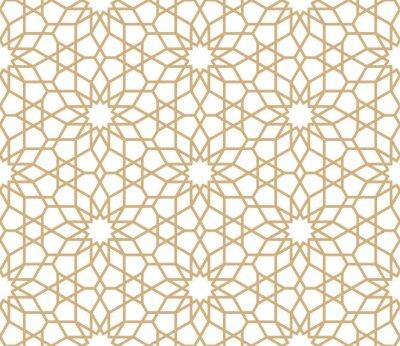 Tapeta Tło islamskie. Arabska liniowa tekstura. Ilustracji wektorowych.