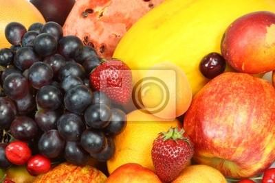Tło świeżych owoców latem.