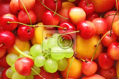 Tło świeżych owoców letnich