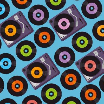Tapeta tło wzór gramofonu winylu urządzenia
