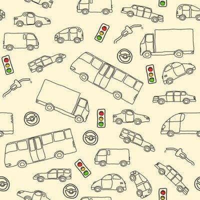 Tapeta Transport Doodle - ilustracji wektorowych