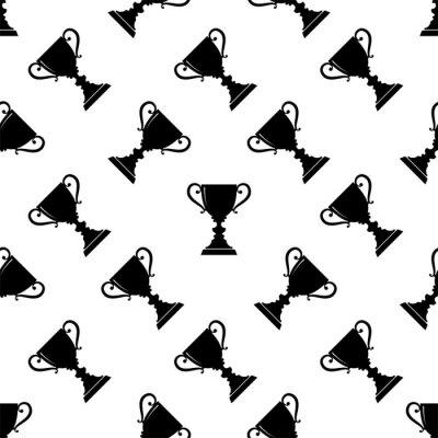 Tapeta Trophy Icon Seamless Pattern, Winner Award