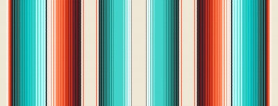 Tapeta Turquoise, Orange & Navajo White Mexican Blanket Serape Stripes Seamless Vector Pattern. Rug Texture with Threads. Native American Textile. Ethnic Boho Background. Pattern Tile Swatch Included