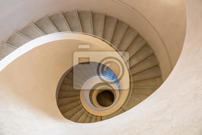 Tapeta typical modern stone staircase