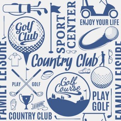 Tapeta Typograficzny wektor golf bez szwu deseń lub tło