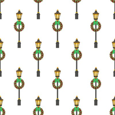 Tapeta Ulica wzór latarni