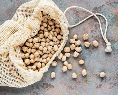 Tapeta Uncooked dried chickpeas