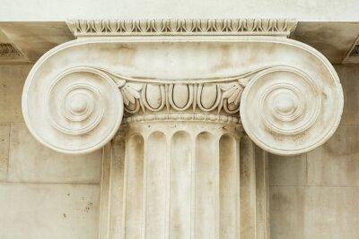 Tapeta Użytkowa szczegół starożytnej kolumny Ionic