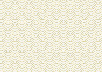 Tapeta vector background of gold japanese wave pattern