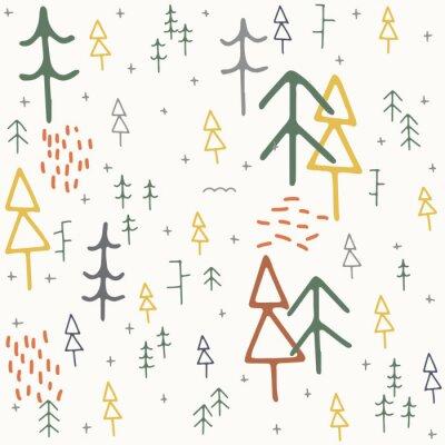 Tapeta Vector Cartoon Seamless Christmas winter holiday pattern