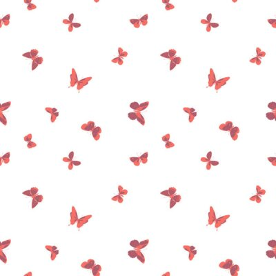 Tapeta Vector colorful flying butterfliesseamless pattern background