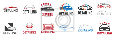 Tapeta Vector logo for detailing car and tuning