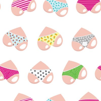 Tapeta Vector set of hearts. Valentine's Day. Hearts like cute asses. Collection of stylized hearts in shorts.
