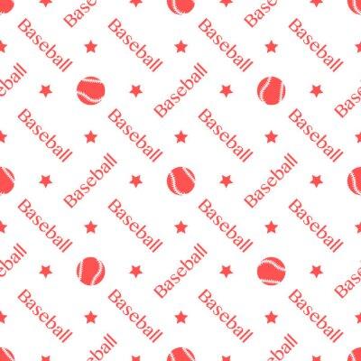 Tapeta Vector sports seamless pattern with baseball balls