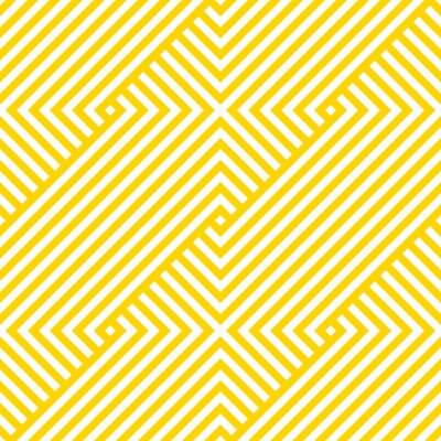 Tapeta Vector yellow geometric pattern. Seamless braided pattern.