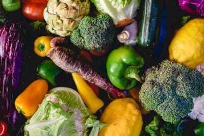 Tapeta Vegetables, best health foods, radishes, onions, garlic, peppers, cabbage, broccoli.