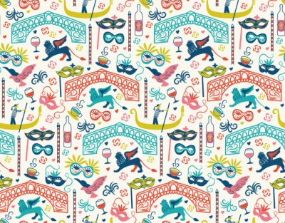 Tapeta Venice pattern seamless design illustration
