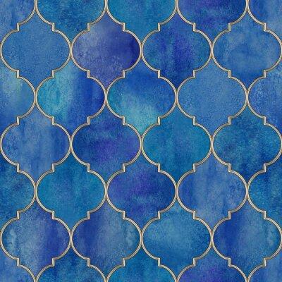 Tapeta Vintage ozdobny wzór marokański.