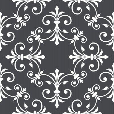 Tapeta Vintage streszczenie kwiatowy wzór. Przecinające się zakrzywione eleganckie stylizowane liście i zwoje tworzące abstrakcyjny kwiatowy ornament w stylu arabskim. Projekt arabeski.