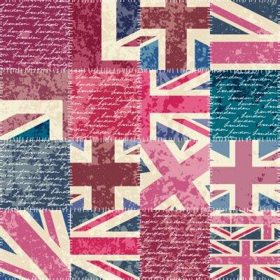 Tapeta Vintage wzór London