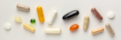 Tapeta vitamins and supplements background